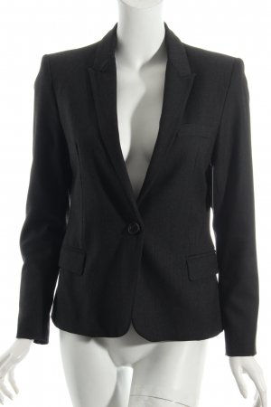 Zara Basic Kurz-Blazer anthrazit Business-Look