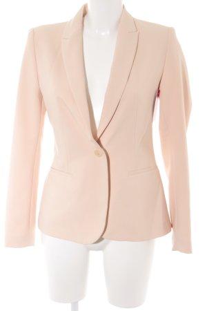Zara Basic Kurz-Blazer apricot Business-Look