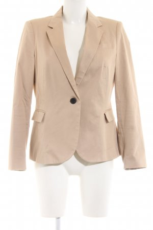Zara Basic Kurz-Blazer nude Business-Look