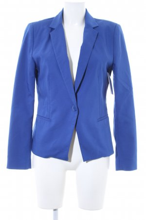 Zara Basic Kurz-Blazer blau Business-Look