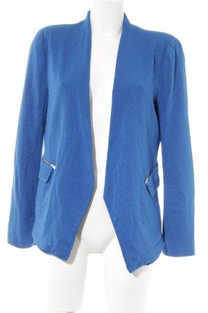 Zara Basic Kurz-Blazer blau Casual-Look