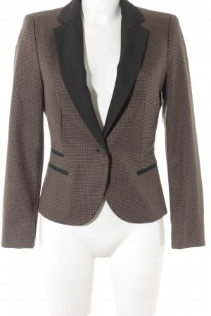 Zara Basic Kurz-Blazer braun-anthrazit Karomuster Business-Look