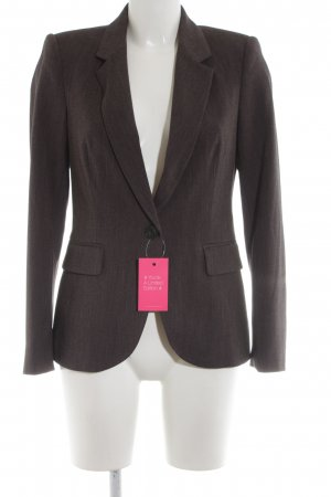 Zara Basic Kurz-Blazer bronzefarben Business-Look