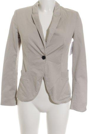 Zara Basic Kurz-Blazer creme Casual-Look