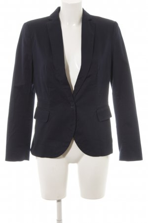 Zara Basic Kurz-Blazer dunkelblau Business-Look