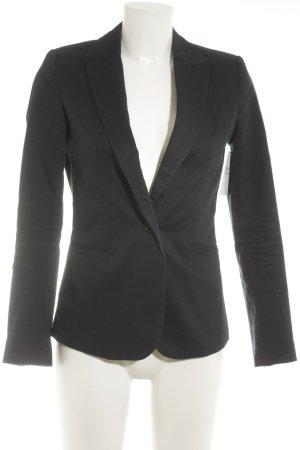 Zara Basic Kurz-Blazer dunkelblau Business-Look