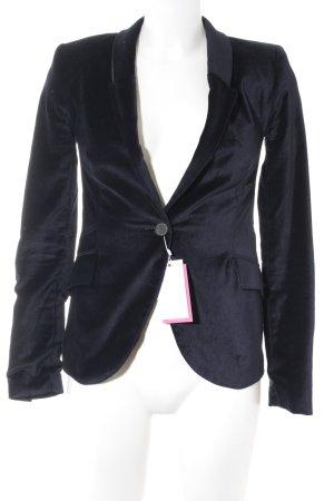 Zara Basic Kurz-Blazer dunkelblau-grau Elegant