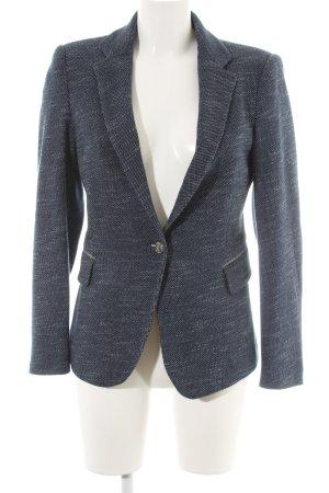 Zara Basic Kurz-Blazer dunkelblau meliert Business-Look