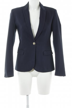 Zara Basic Kurz-Blazer dunkelblau-weiß Business-Look
