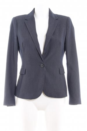 Zara Basic Kurz-Blazer dunkelblau-weiß meliert Business-Look