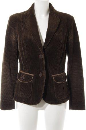 Zara Basic Kurz-Blazer dunkelbraun Casual-Look