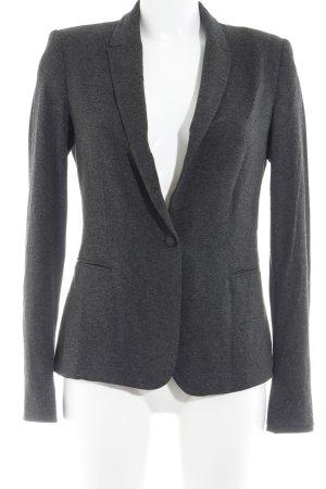 Zara Basic Kurz-Blazer dunkelgrau meliert College-Look