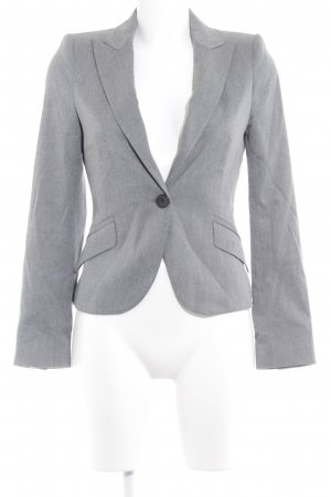 Zara Basic Kurz-Blazer grau Business-Look