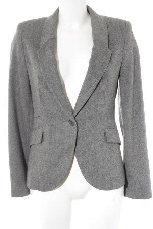 Zara Basic Kurz-Blazer grau meliert Elegant