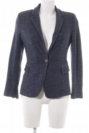 Zara Basic Kurz-Blazer graublau meliert Elegant
