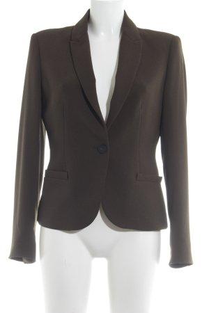 Zara Basic Kurz-Blazer grüngrau Business-Look