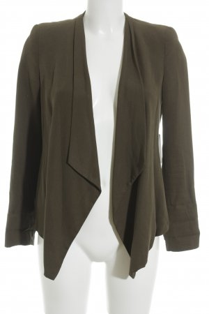 Zara Basic Kurz-Blazer khaki Business-Look
