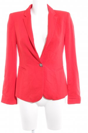 Zara Basic Kurz-Blazer rot Casual-Look