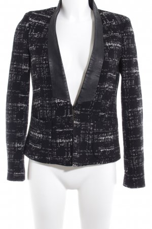 Zara Basic Short Blazer black-white business style