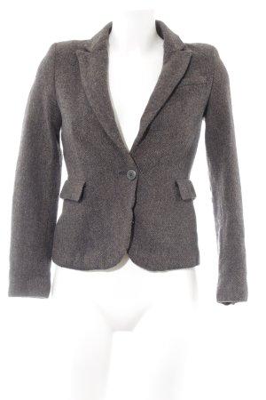 Zara Basic Kurz-Blazer schwarzbraun-hellbraun meliert Brit-Look