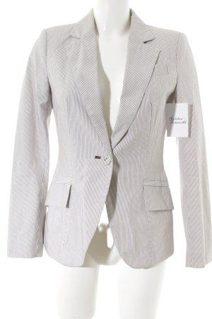 Zara Basic Kurz-Blazer weiß-schwarz Nadelstreifen Casual-Look