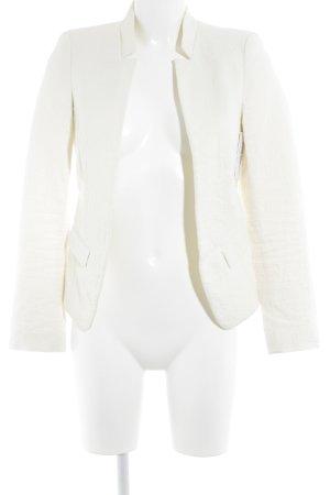 Zara Basic Kurz-Blazer wollweiß Business-Look
