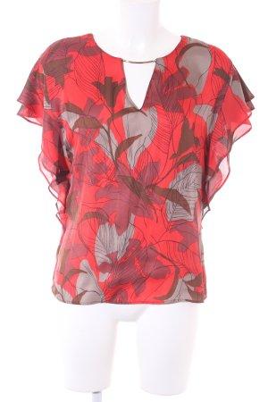 Zara Basic Kurzarm-Bluse abstrakter Druck Casual-Look