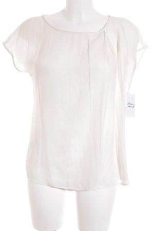 Zara Basic Kurzarm-Bluse weiß Elegant
