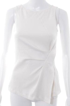Zara Basic Kurzarm-Bluse wollweiß Business-Look