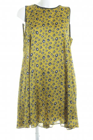 Zara Basic Kurzarmkleid abstraktes Muster Casual-Look