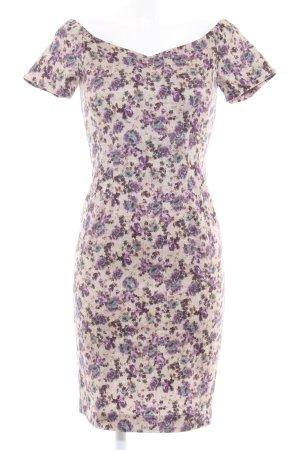 Zara Basic Kurzarmkleid Blumenmuster klassischer Stil