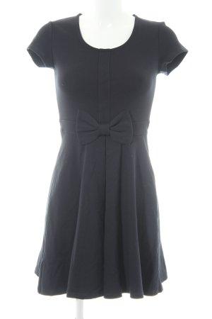 Zara Basic Kurzarmkleid dunkelblau Casual-Look