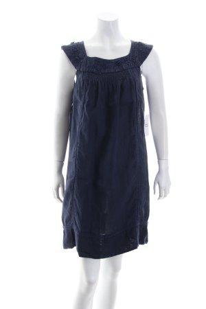 Zara Basic Kurzarmkleid dunkelblau Romantik-Look