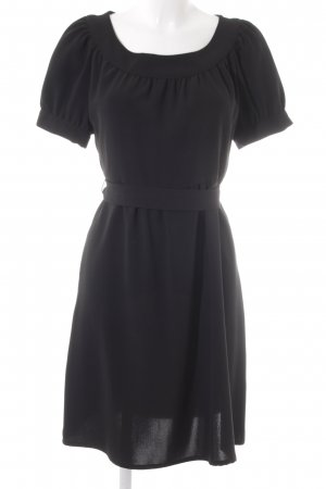 Zara Basic Kurzarmkleid schwarz Business-Look