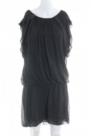 Zara Basic Kurzarmkleid schwarz Casual-Look