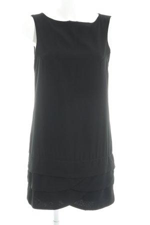 Zara Basic Jurk met korte mouwen zwart casual uitstraling