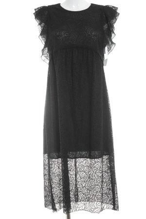 Zara Basic Kurzarmkleid schwarz Elegant