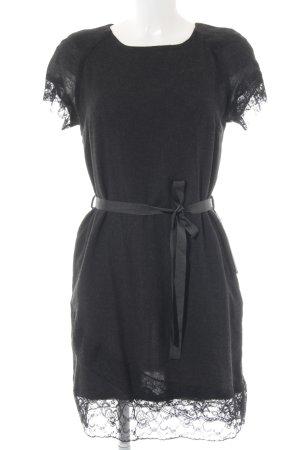 Zara Basic Kurzarmkleid schwarz meliert Casual-Look