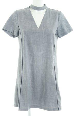 Zara Basic Kurzarmkleid schwarz-weiß Streifenmuster Casual-Look