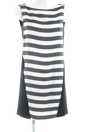 Zara Basic Kurzarmkleid schwarz-weiß Streifenmuster schlichter Stil
