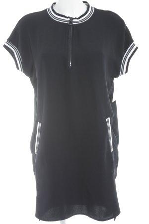 Zara Basic Kurzarmkleid Streifenmuster Casual-Look