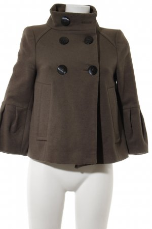 Zara Basic Kurzjacke braun Casual-Look