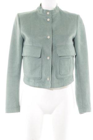 Zara Basic Kurzjacke graugrün-hellbeige schlichter Stil