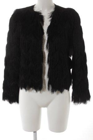 Zara Basic Kurzjacke schwarz extravaganter Stil