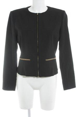 Zara Basic Kurzjacke schwarz-goldfarben klassischer Stil