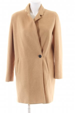 Zara Basic Short Coat nude business style