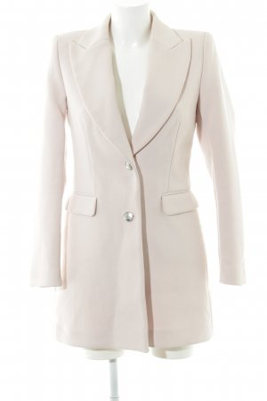 Zara Basic Kurzmantel altrosa Business-Look