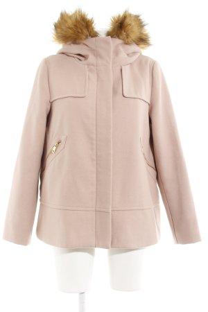 Zara Basic Cappotto corto rosa antico stile casual