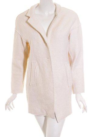 Zara Basic Kurzmantel creme schlichter Stil