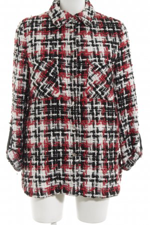 Zara Basic Short Coat check pattern casual look